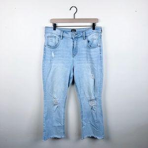 BDG Kick Flare high rise cropped jean size 32